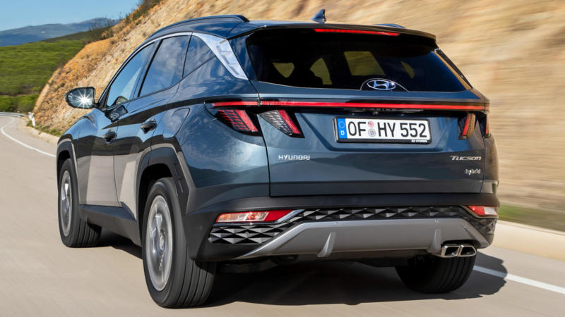 Hyundai Tucson вид сзади