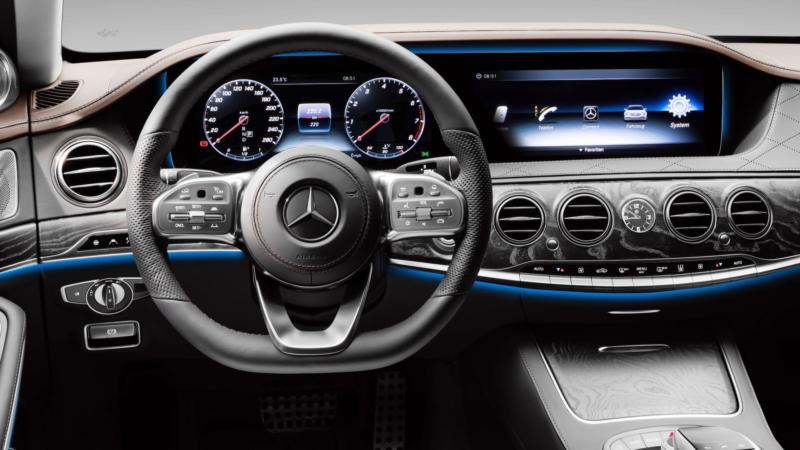 Интерьер Mercedes-Benz S-Class