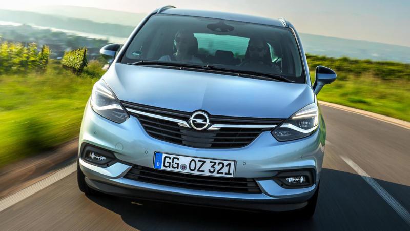 Opel Zafira вид спереди