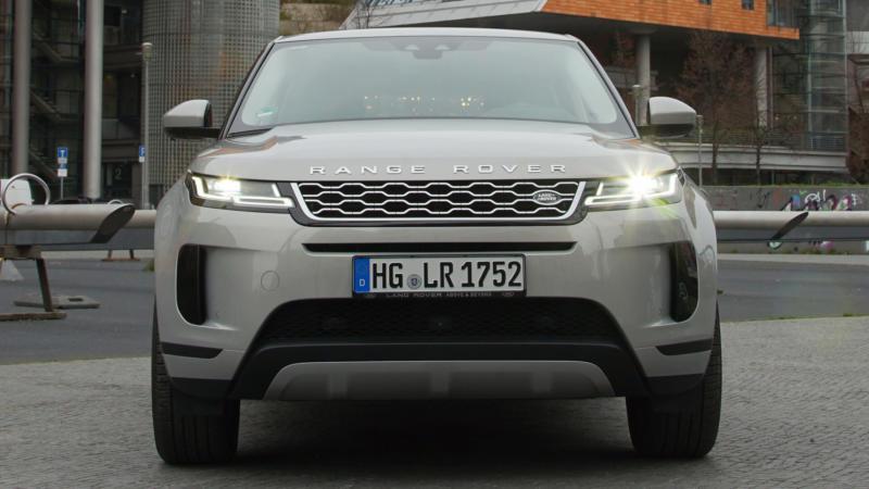Range Rover Evoque вид спереди