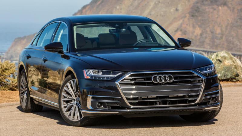 Audi A8 вид спереди