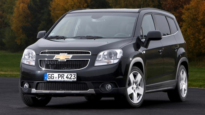 Chevrolet Orlando вид спереди