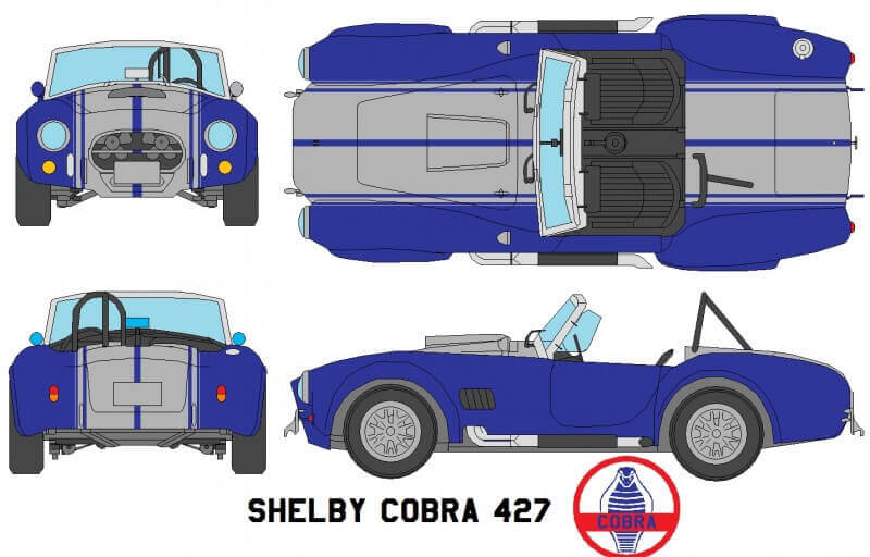 Чертеж Shelby AC Cobra 427