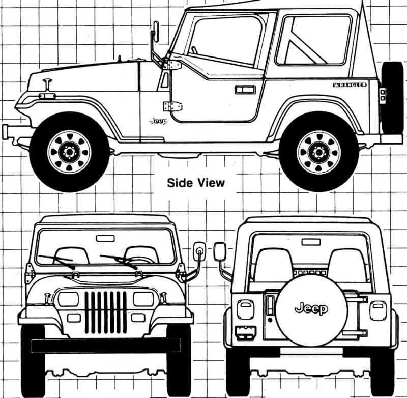 Jeep Wrangler чертеж