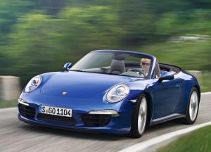 Porsche 911 Carrera Cabriolet синий