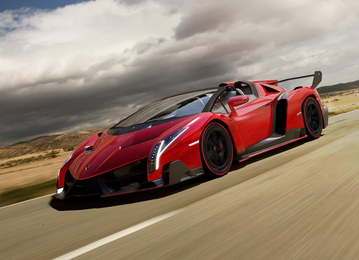 Lamborghini Veneno красный