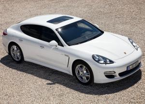 Porsche Panamera вид с верху