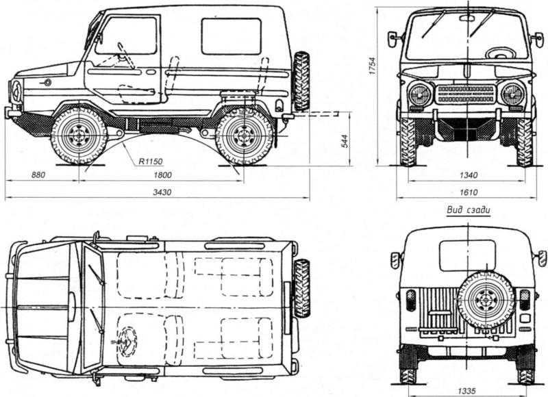 ЛуАЗ-969 чертеж