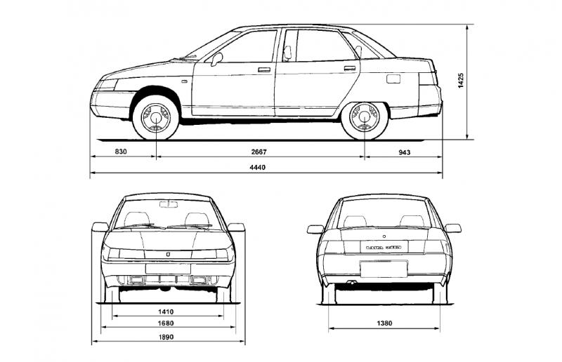 Чертеж ВАЗ-2110