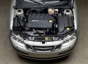 Saab 9-3 фото двигателя