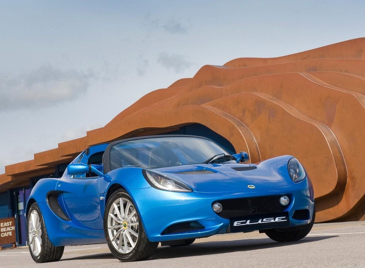 Синий Lotus Elise