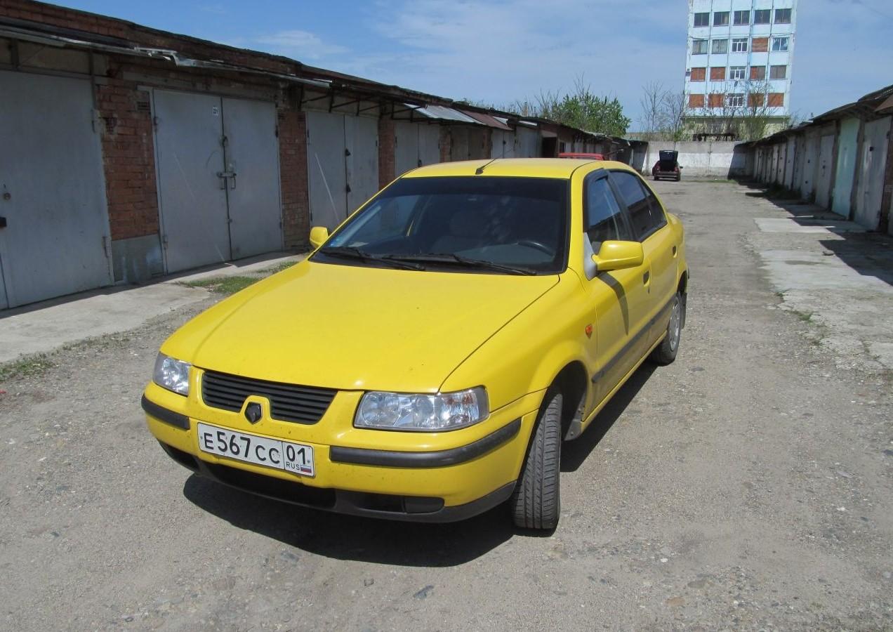 Желтый Iran Khodro Samand