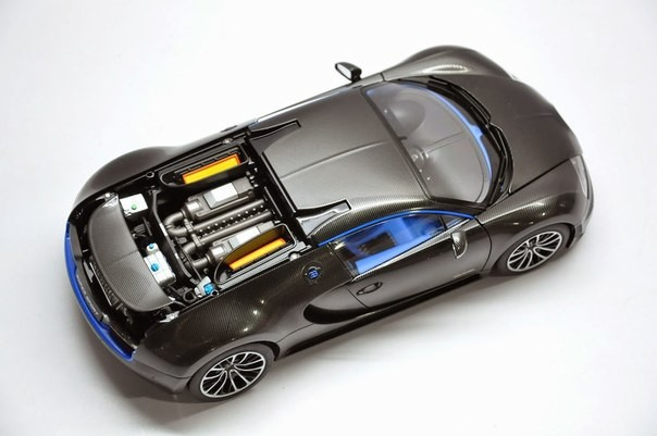 Вид сверху Bugatti Veyron Super Sport
