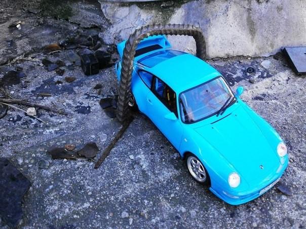 Вид сверху Porsche 911( 993) RS Club Sport
