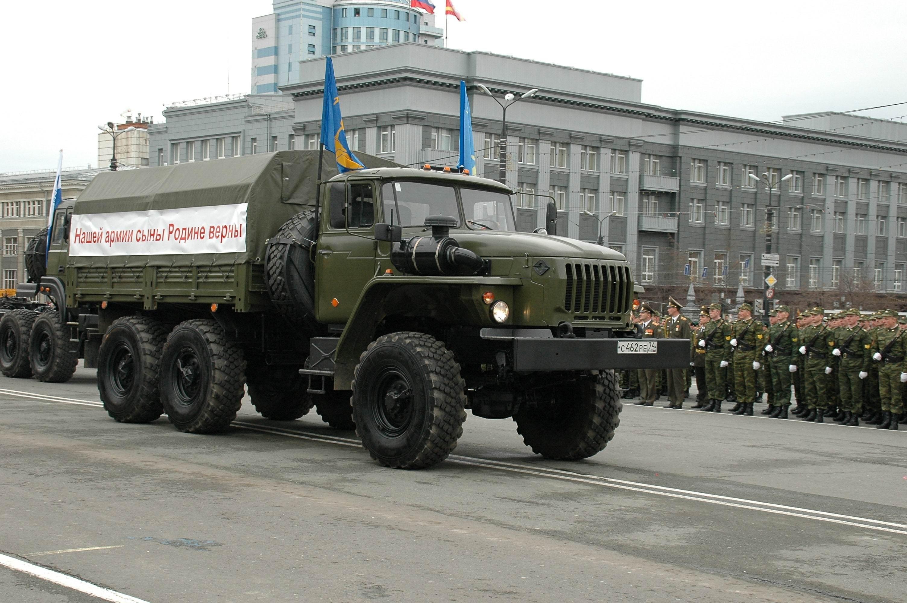 Армейский грузовик Урал-4320