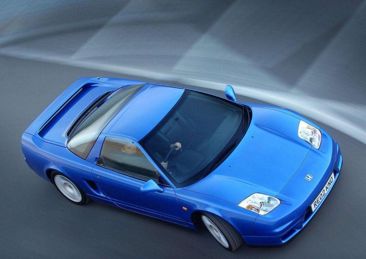 Honda NSX вид с верху