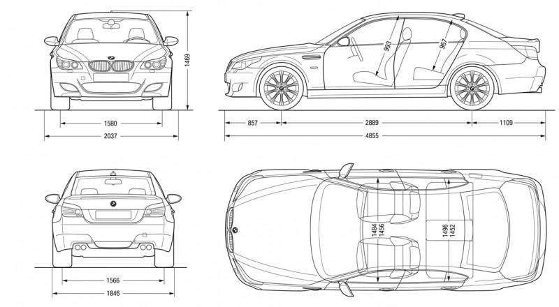 BMW M5 чертеж