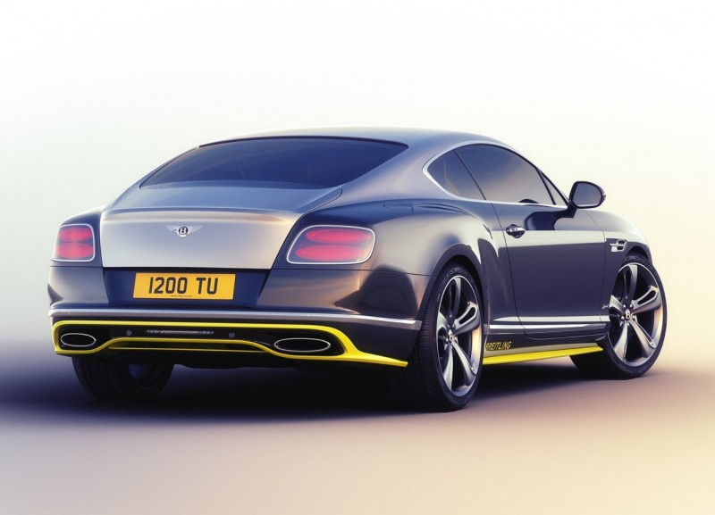 Bentley Continental GT Speed вид сзади