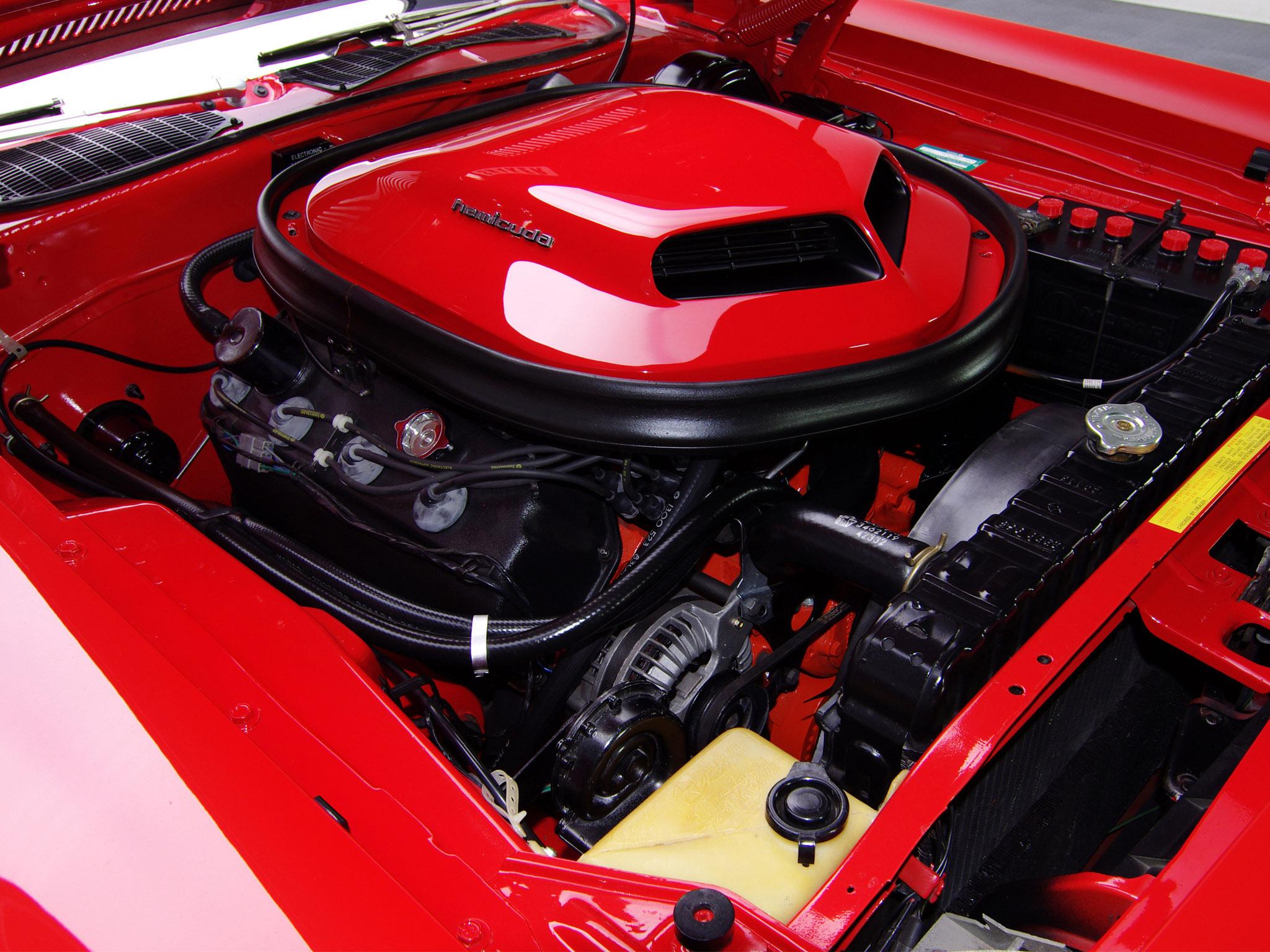 Двигатель Plymouth Hemi Cuda