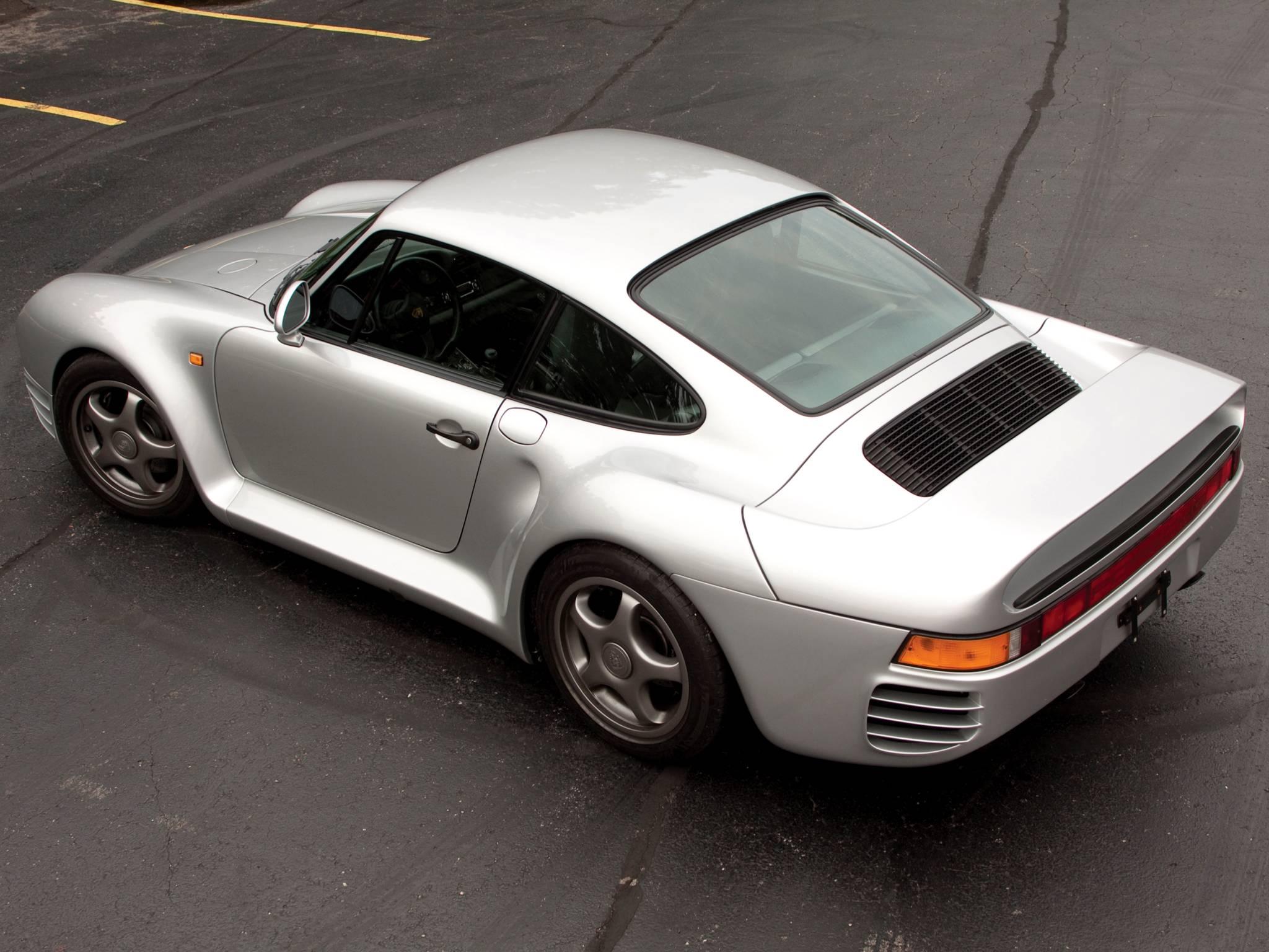 Porsche 959 вид с верху