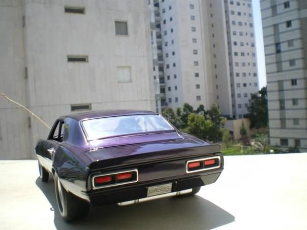Вид сзади Chevrolet Camaro Drag