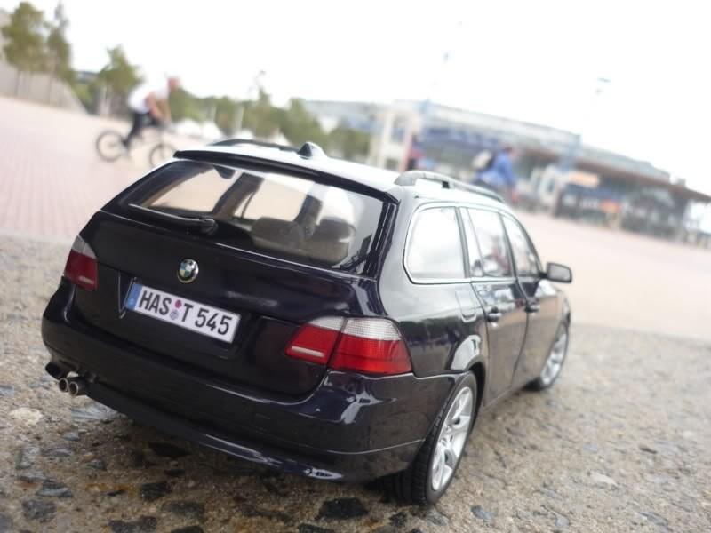 BMW 545i Touring вид сзади