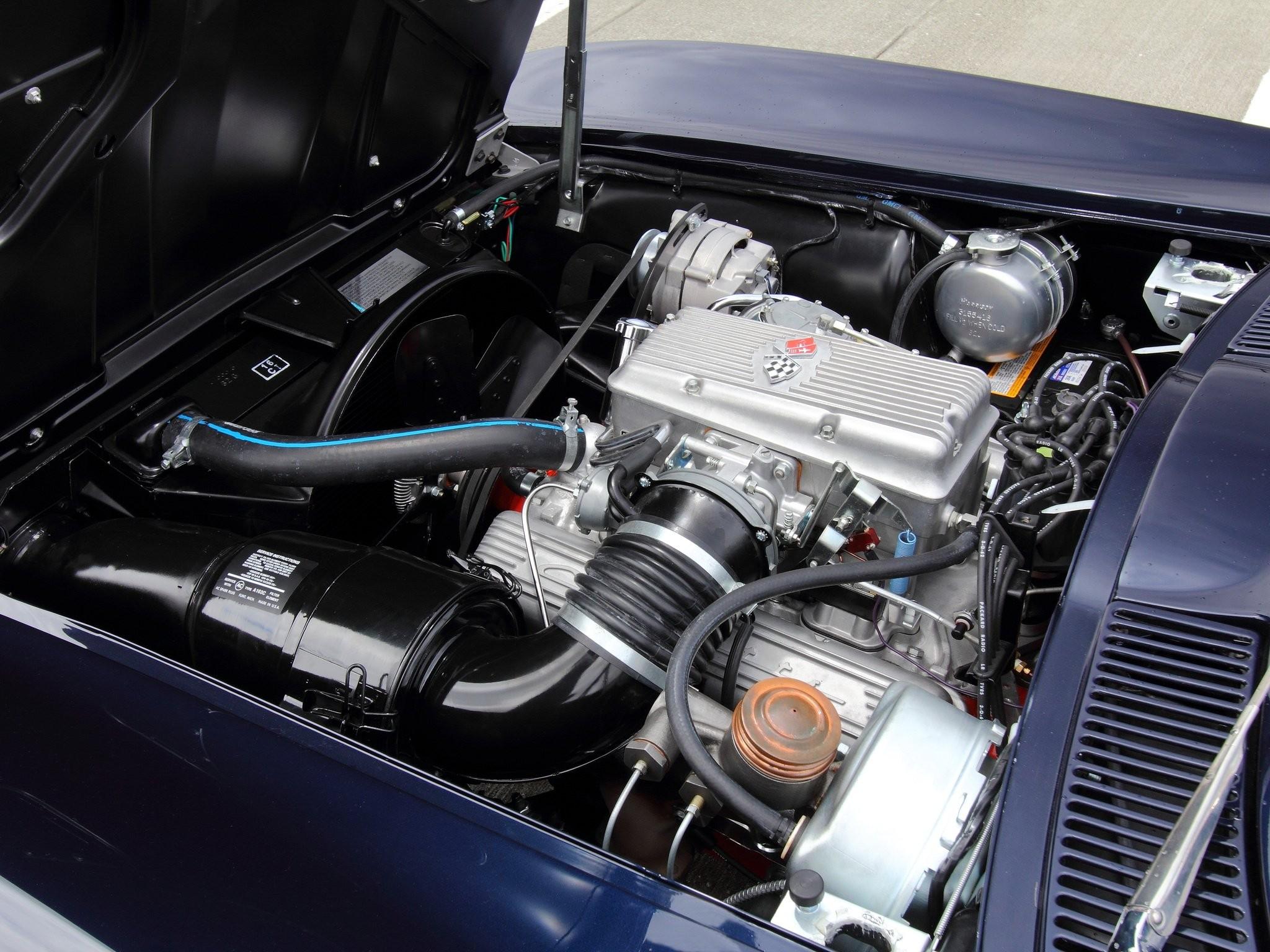 Chevrolet Corvette C2 Sting Ray двигатель