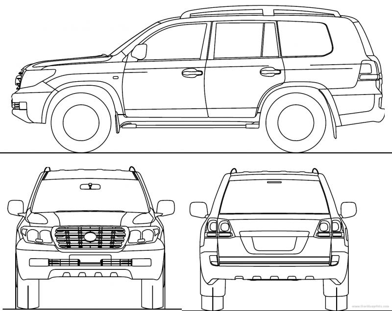 Тойота Ленд Крузер 200 чертеж
