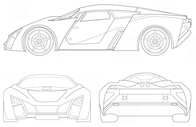 Marussia B2 чертеж
