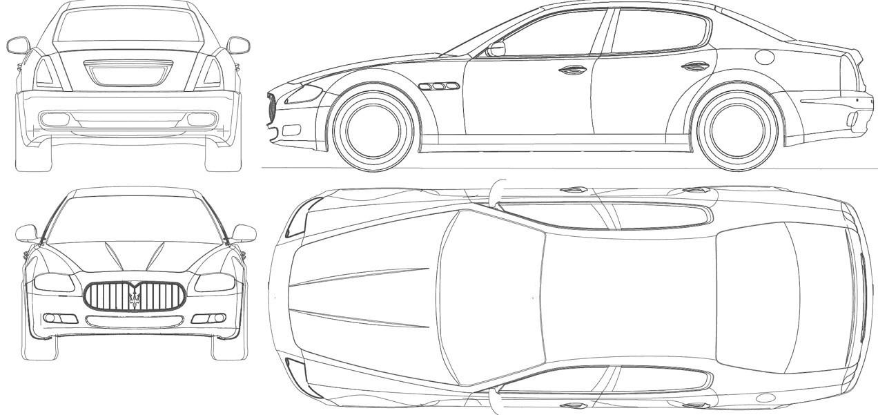 Maserati Quattroporte чертеж