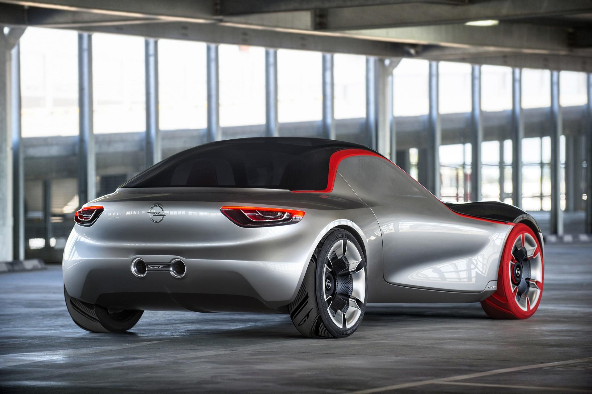 Opel GT Concept вид сзади