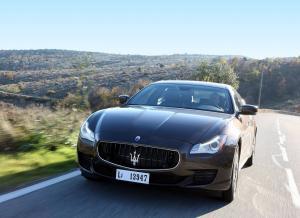 Вид спереди Maserati Quattroporte VI