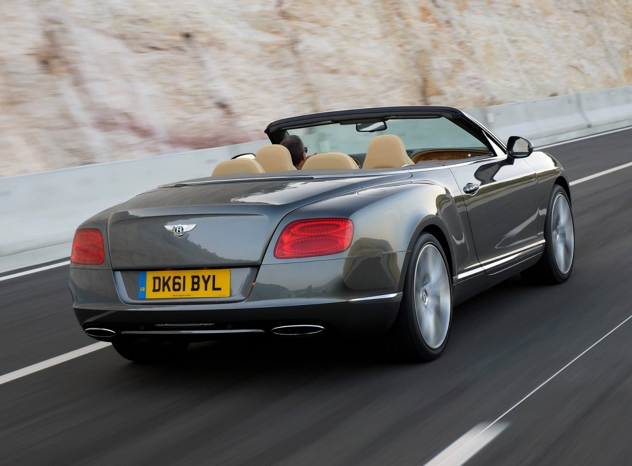 Bentley Continental GTC вид сзади