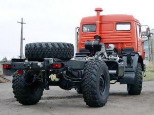 Вид сзади КамАЗ-4326