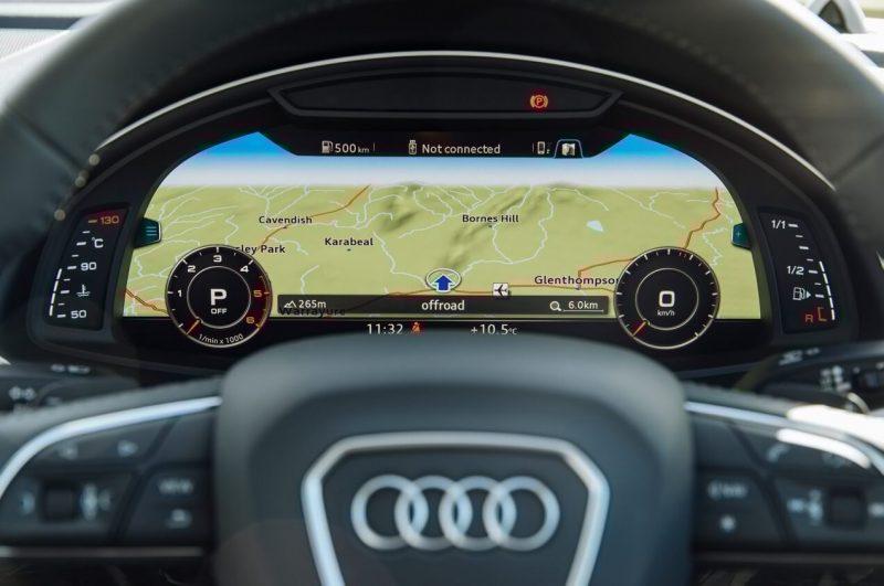 Audi Q7 панель приборов