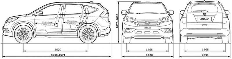 Габариты Honda CR-V