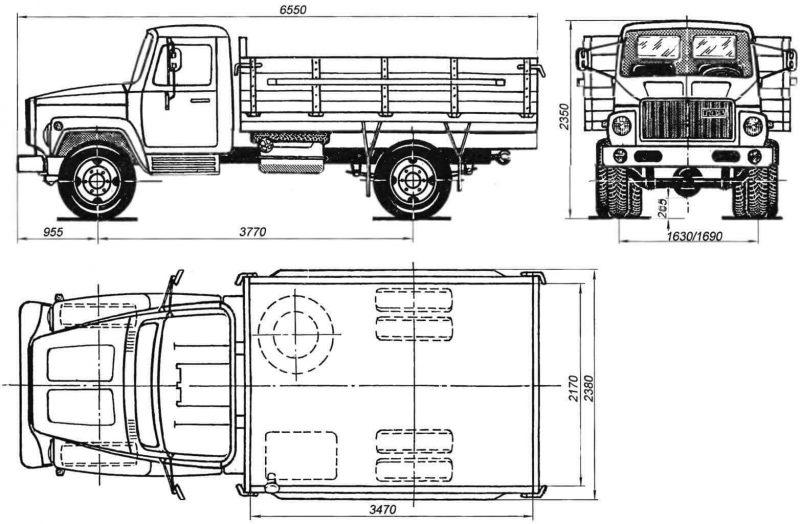 ГАЗ-3307 чертеж