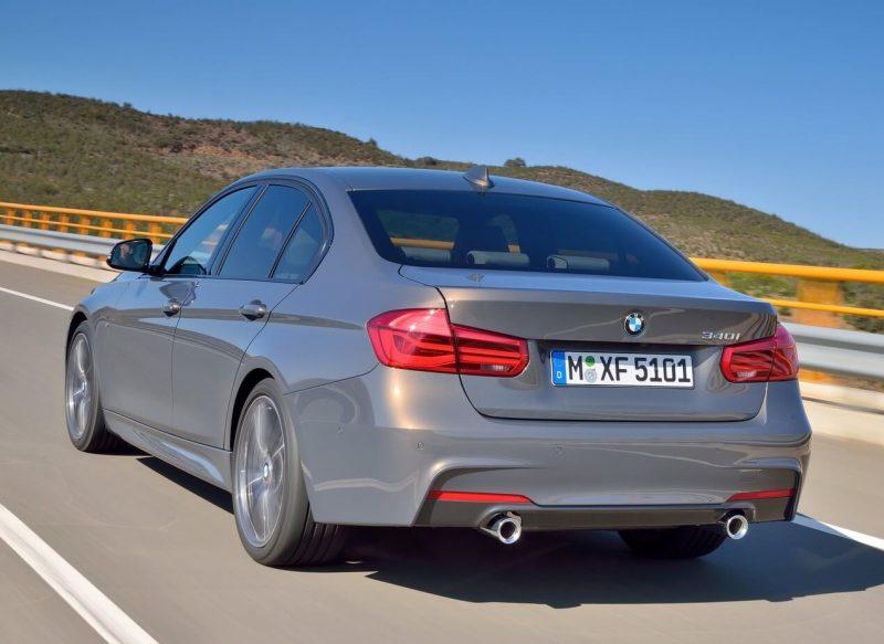 Вид сзади BMW 3-Series
