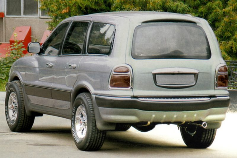 Вид сзади ГАЗ-3106