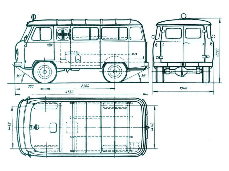 Схема УАЗ-452