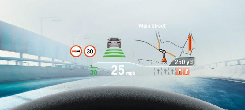 Проекционный экран BMW M5