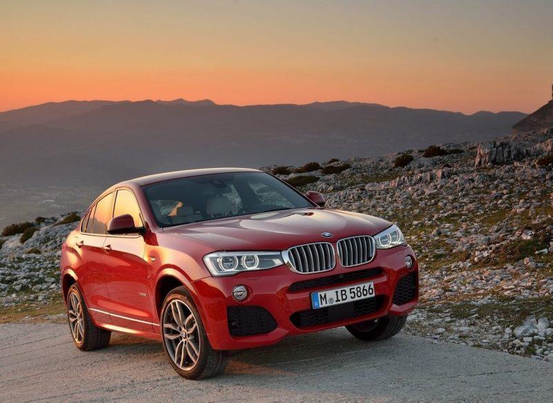 Вид спереди BMW X4