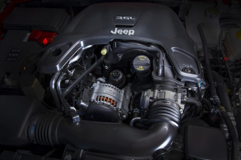 Jeep Wrangler IV двигатель