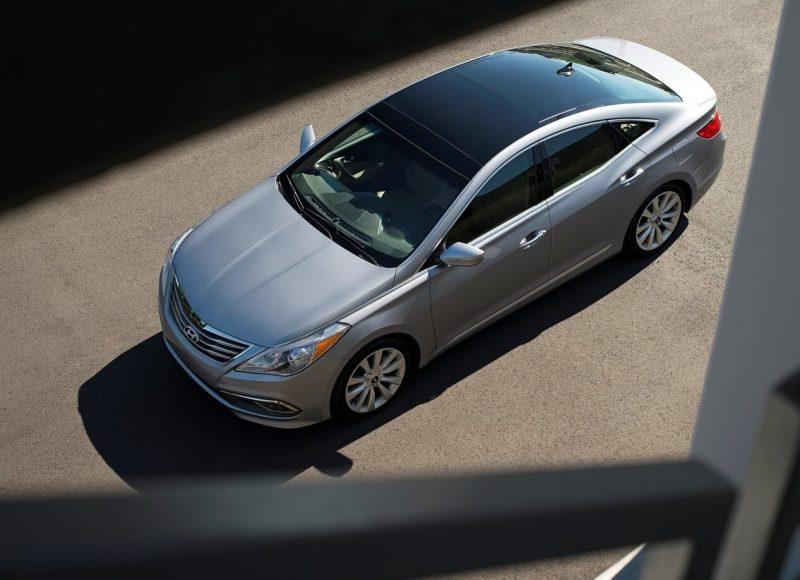 Вид сверху Hyundai Grandeur HG
