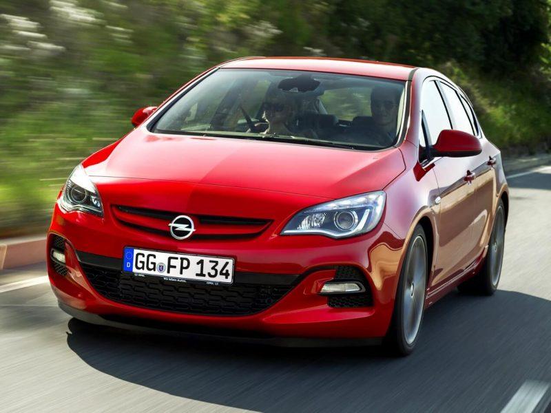 Вид спереди Opel Astra J