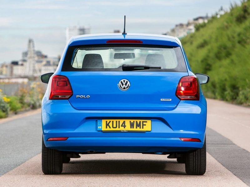 Вид сзади Volkswagen Polo 3-door