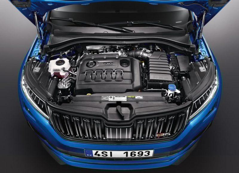 Skoda Kodiaq RS двигатель